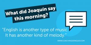 Joaquin musica aprender ingles